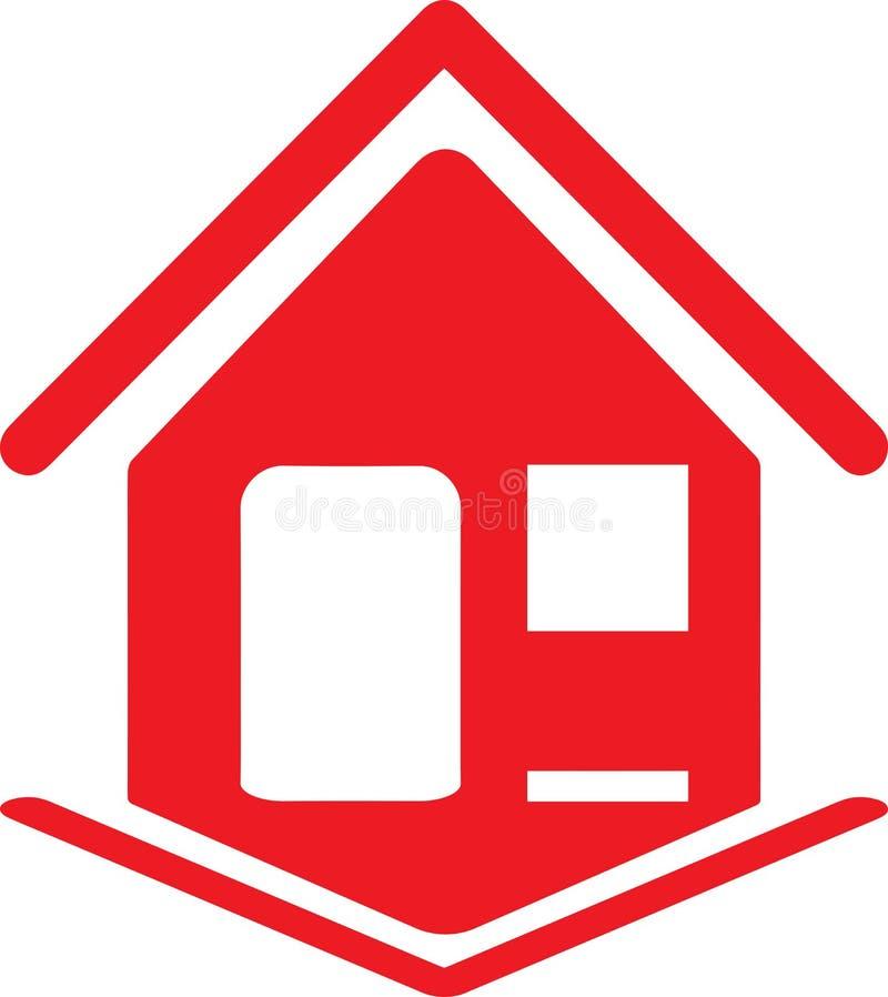Красная икона дома иллюстрация штока
