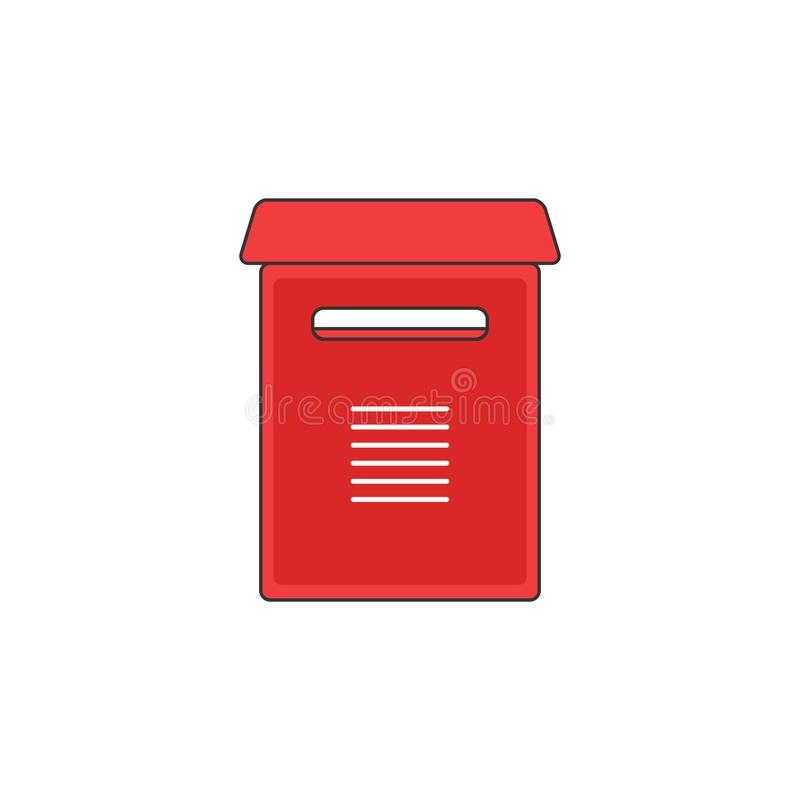 Красная иллюстрация значка плана вектора поддержки почтового ящика иллюстрация штока