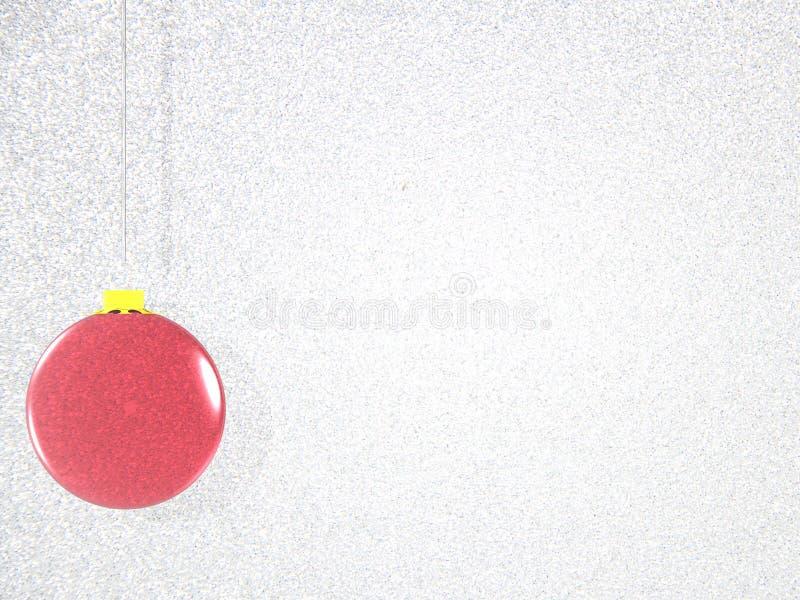 Красная иллюстрация предпосылки шарика рождественской елки иллюстрация штока