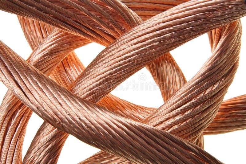 Красная индустрия медного провода стоковые изображения rf