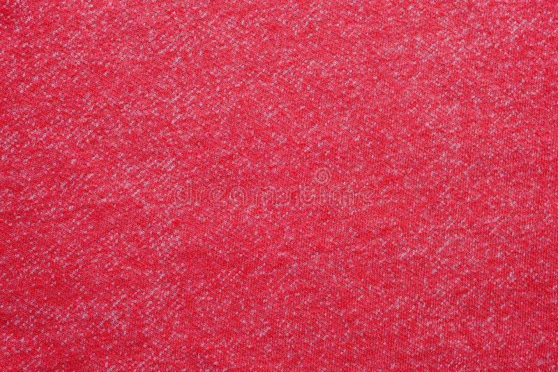 Красная и белая хлопко-бумажная ткань текстурировала предпосылку, концепцию ткани дизайна картины моды стоковые фото
