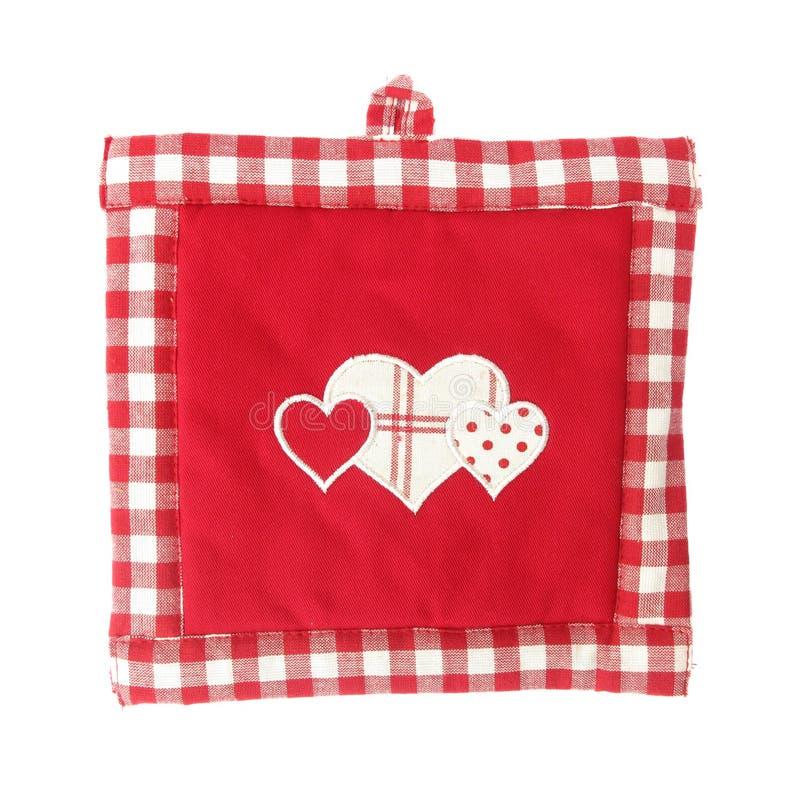 Красная и белизна держателя бака симпатичная с сердцами стоковые фото