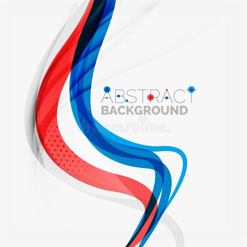 Красная и голубая концепция свирли цвета иллюстрация вектора