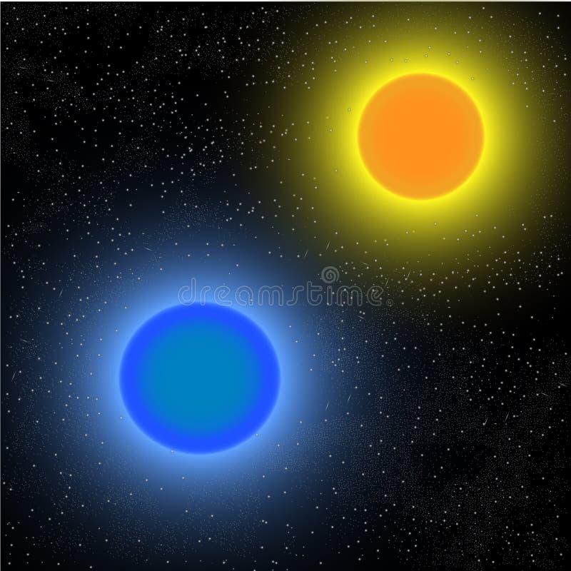 Красная и голубая планета стоковое фото rf