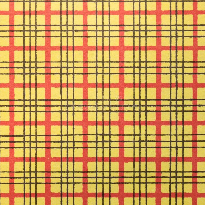 Красная и желтая картина нашивки стоковая фотография rf