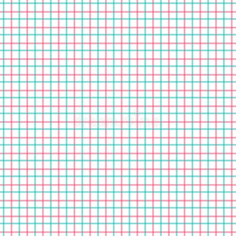 Красная и зеленая картина проверки Tattersall Текстильная ткань моды рубашки людей Повторение кафельной картины шотландки бесплатная иллюстрация