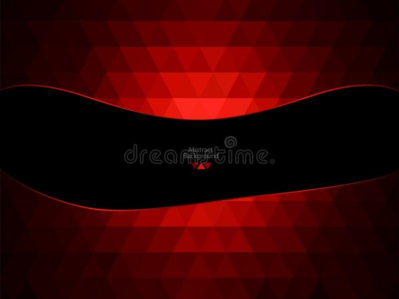 Красная и черная абстрактная предпосылка иллюстрация штока