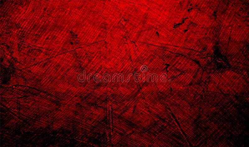 Красная и черная затеняемая предпосылка текстурированная стеной текстура предпосылки grunge обои предпосылки стоковые изображения rf