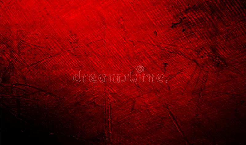 Красная и черная затеняемая предпосылка текстурированная стеной текстура предпосылки grunge обои предпосылки стоковая фотография rf
