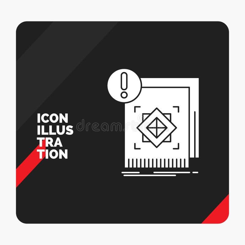 Красная и черная творческая предпосылка представления для структуры, стандарта, инфраструктуры, информации, бдительного значка гл бесплатная иллюстрация