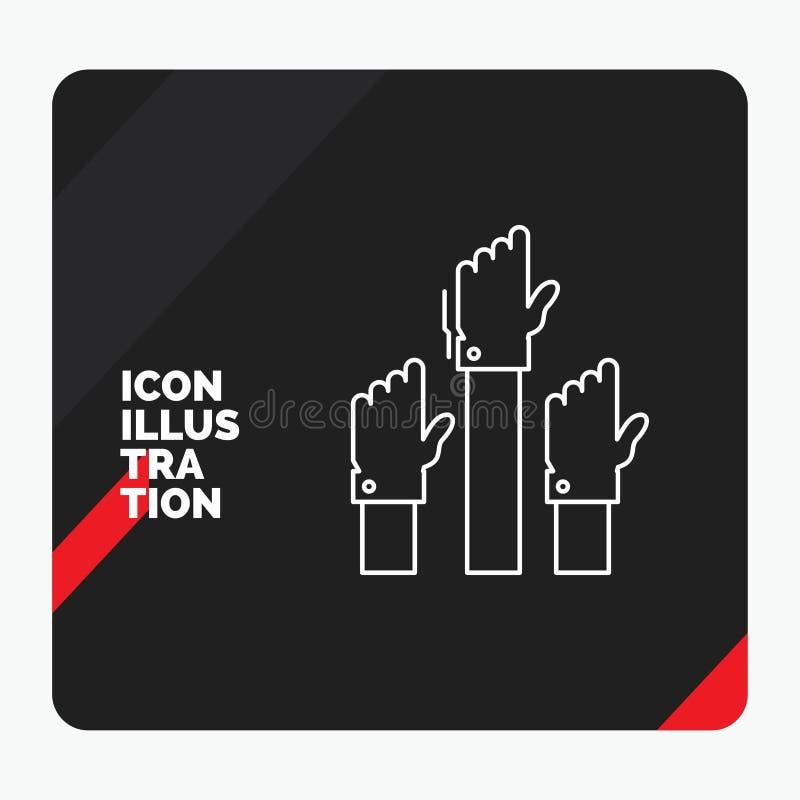 Красная и черная творческая предпосылка представления для устремленности, дела, желания, работника, умышленной линии значка бесплатная иллюстрация