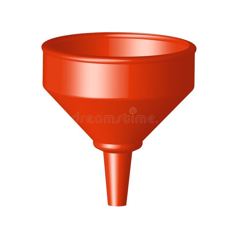 Красная иллюстрация вектора воронки изолированная на белой предпосылке стоковые фото