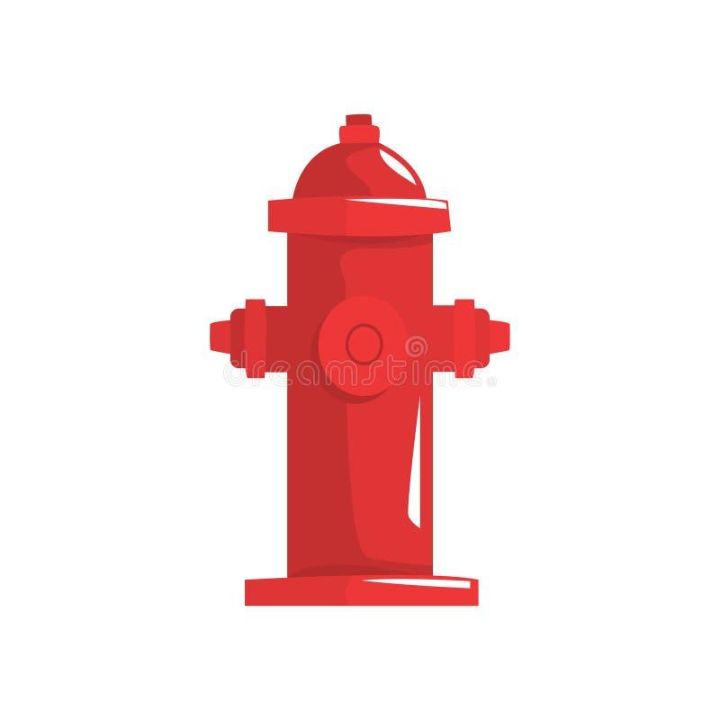Красная иллюстрация вектора жидкостного огнетушителя иллюстрация вектора
