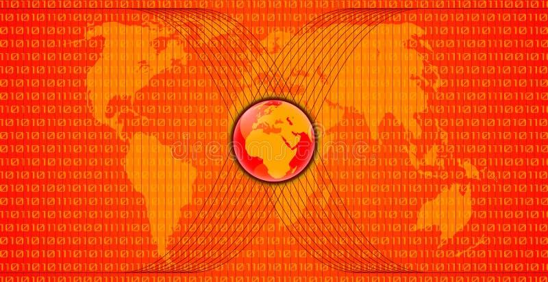 Красная карта мира иллюстрация штока