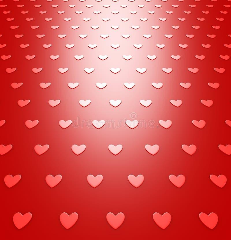 Красная картина предпосылки сердец на день валентинок иллюстрация вектора