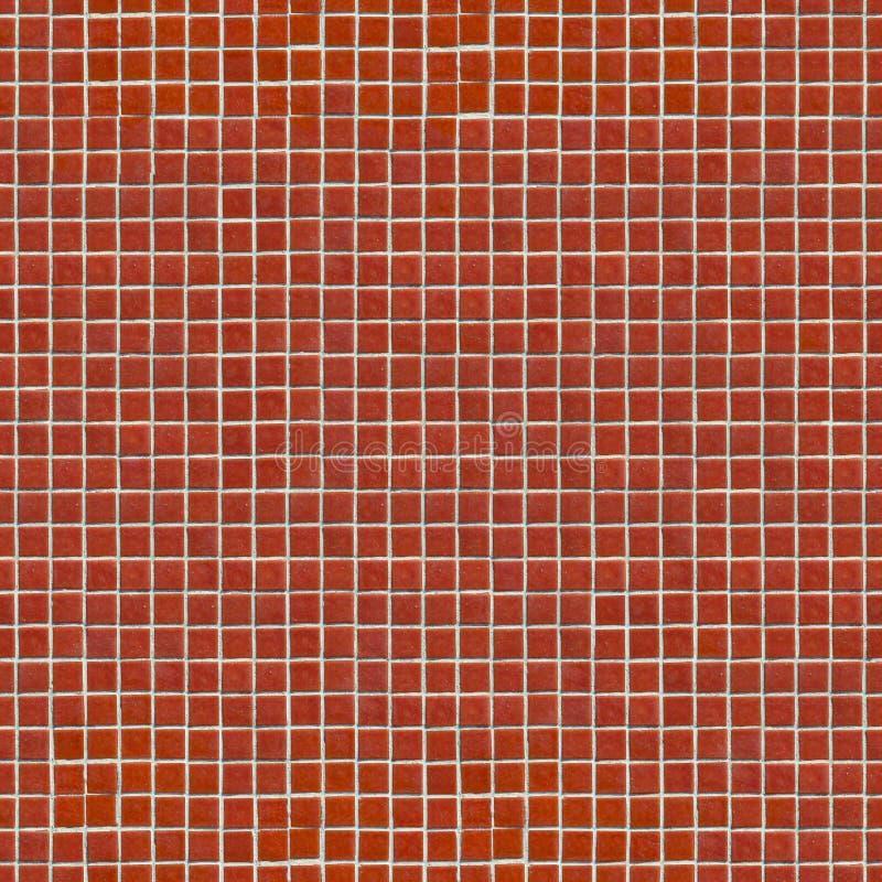 Красная керамическая мозаика. Безшовная текстура Tileable. иллюстрация штока