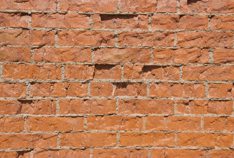 Красная кирпичная стена в дневном свете стоковое фото rf