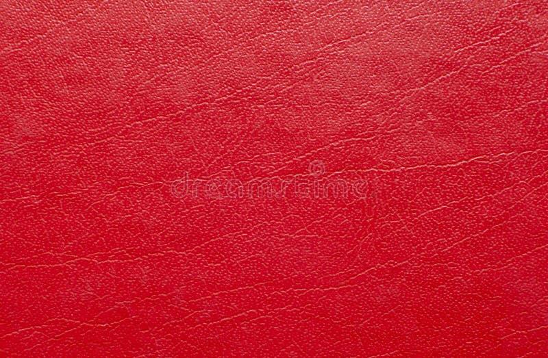 Красная кожаная текстура стоковое фото
