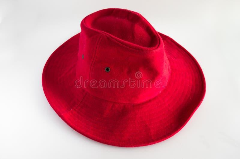Красная кожаная шляпа стоковые фото