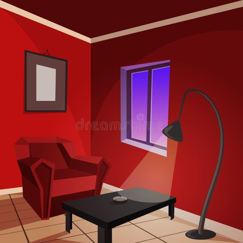 красная комната иллюстрация вектора