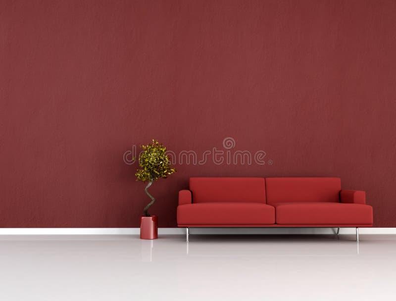 красная комната бесплатная иллюстрация