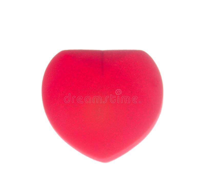 Красная коробка кольца изолированная на белизне стоковое изображение