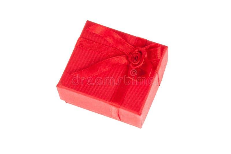 Красная коробка подарка стоковая фотография