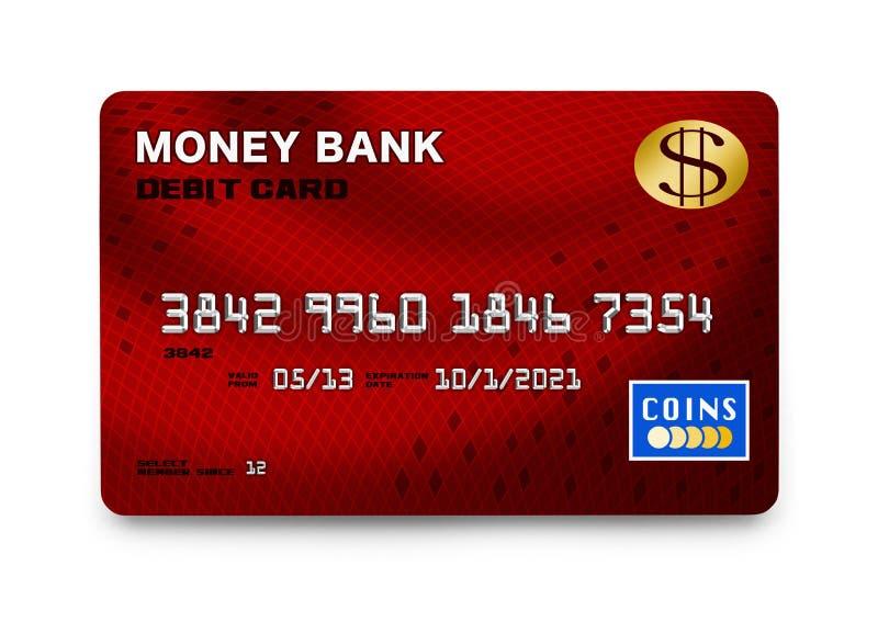 Красная кредитная карточка иллюстрация штока