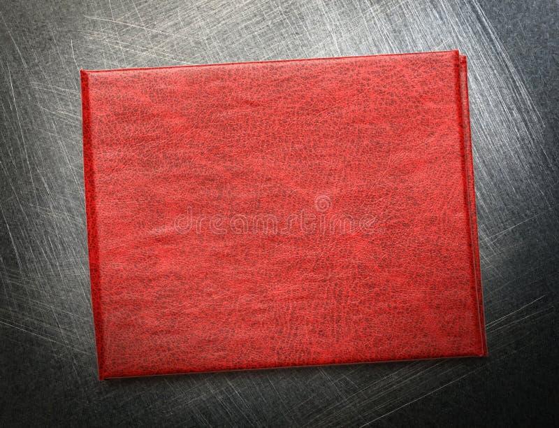 Красная крышка пустого документа стоковое фото