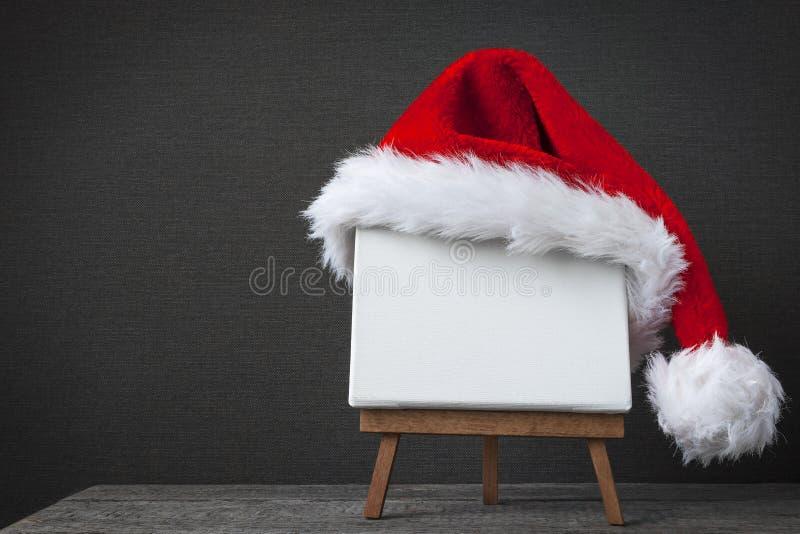 Красная крышка Santa Claus стоковая фотография rf
