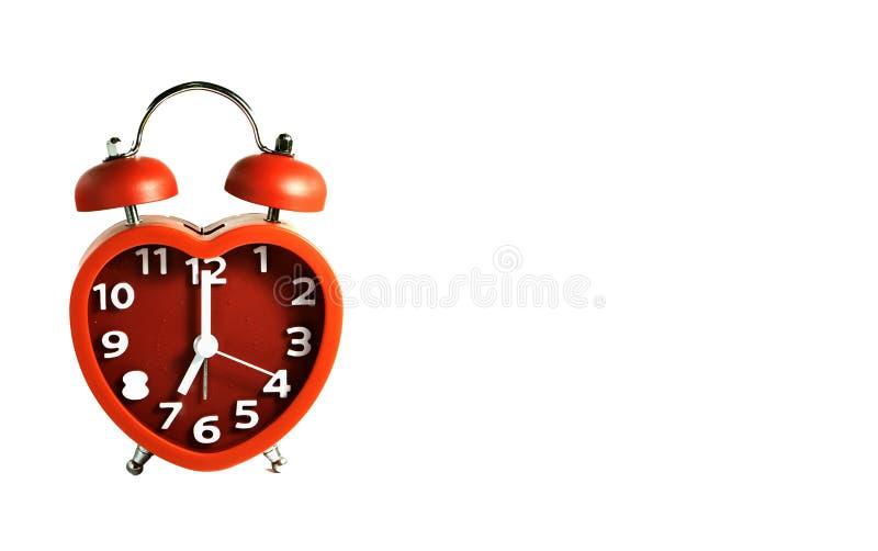 Download Красная метка звонок с двумя чашками часов на часах ` 7 O Стоковое Фото - изображение насчитывающей космос, красно: 81813634