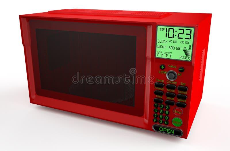 Красная микроволновая печь бесплатная иллюстрация