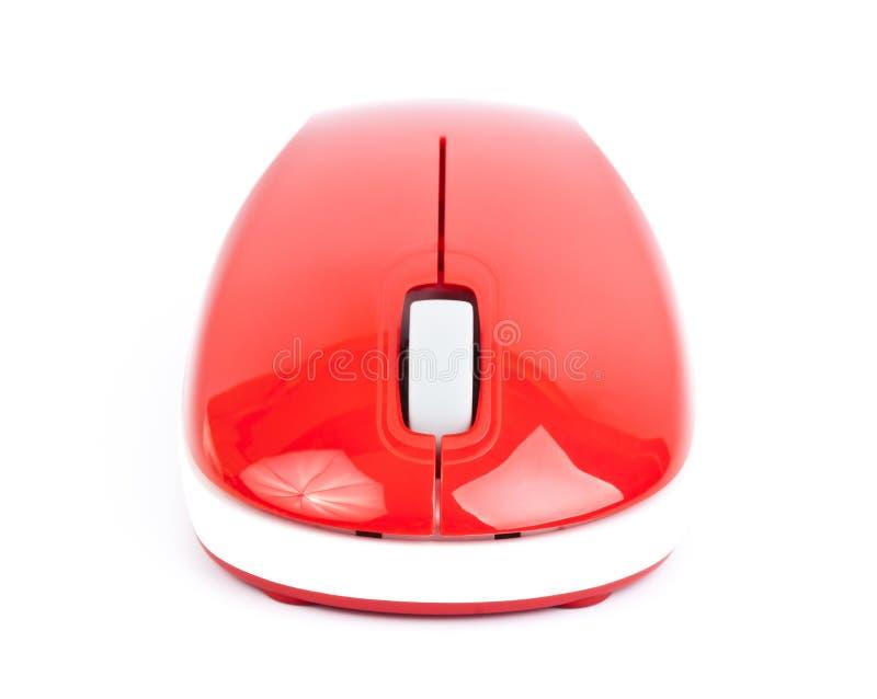 Красная мышь малого компьютера стоковая фотография rf