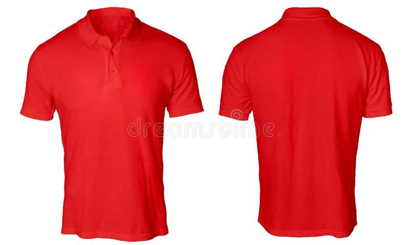 Красная насмешка рубашки поло вверх стоковое изображение