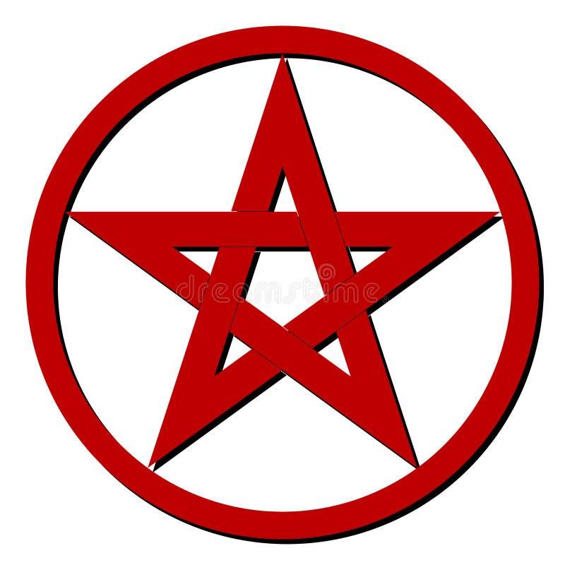 Красная пентаграмма иллюстрация штока