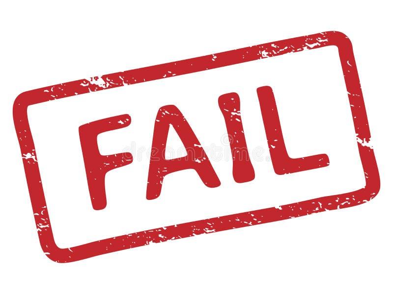 Красная печать терпеть неудачу Рамка печати избитой фразы текстуры чернил Grunge с иллюстрацией вектора слова терпеть неудачу изо бесплатная иллюстрация