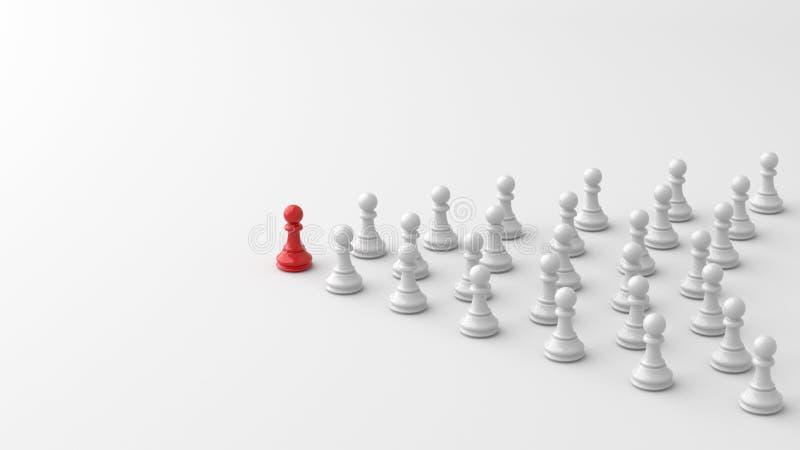 Красная пешка шахмат иллюстрация штока