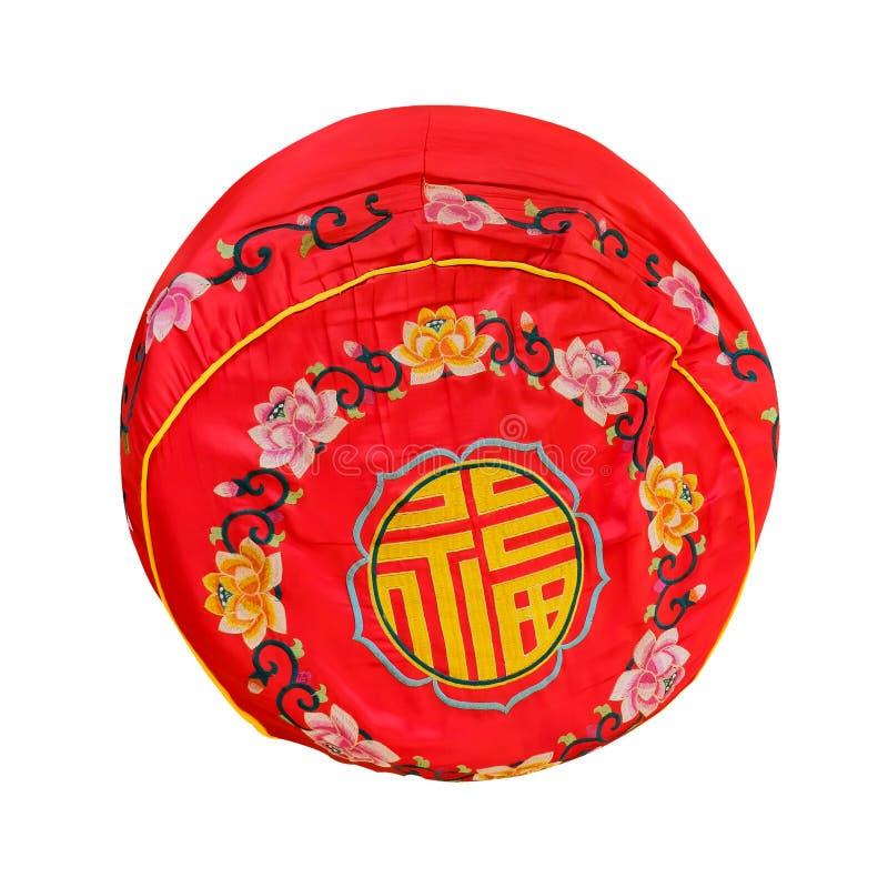Красная подушка для почтения оплаты к Будде стоковые изображения rf