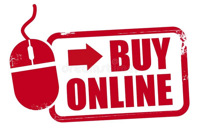 Красная покупка штемпеля rupper онлайн иллюстрация вектора