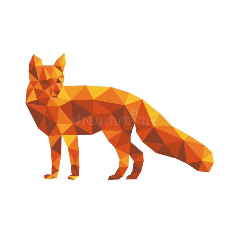Красная полигональная лиса иллюстрация штока