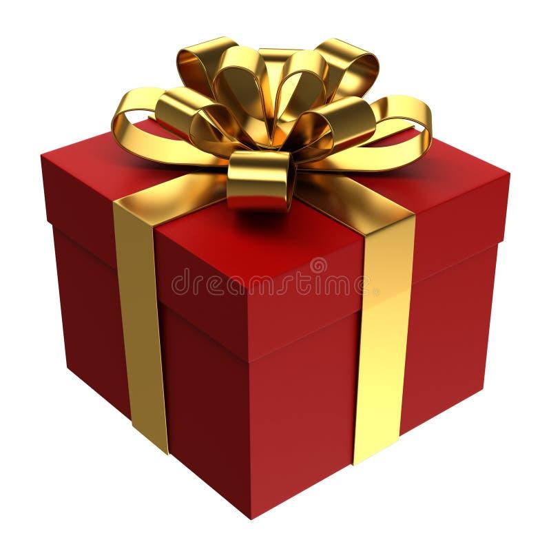 Download Красная подарочная коробка с золотой лентой, предпосылкой PNG прозрачной Стоковое Фото - иллюстрации насчитывающей цвет, приветствие: 40592128