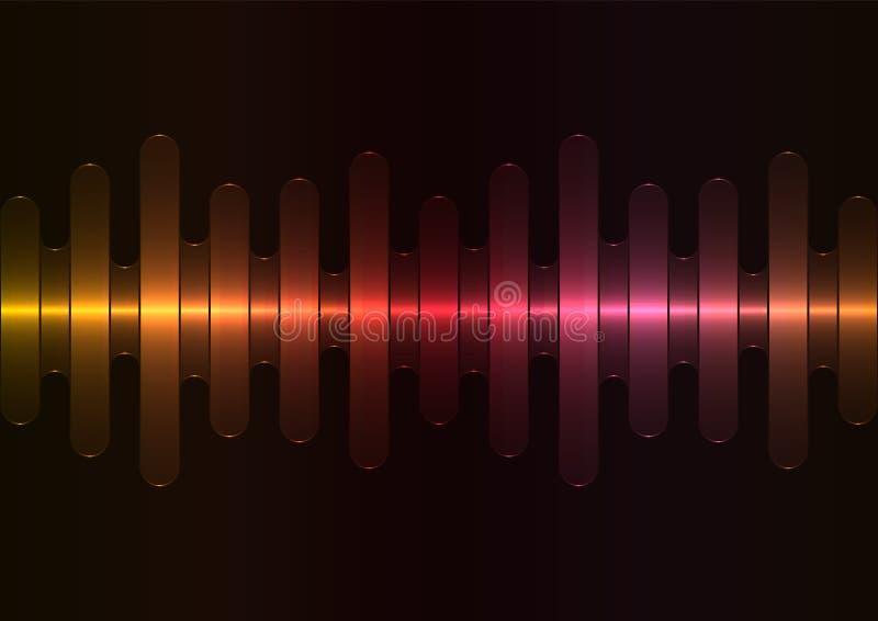 Красная предпосылка конспекта перекрытия скорости волны melt металла иллюстрация вектора