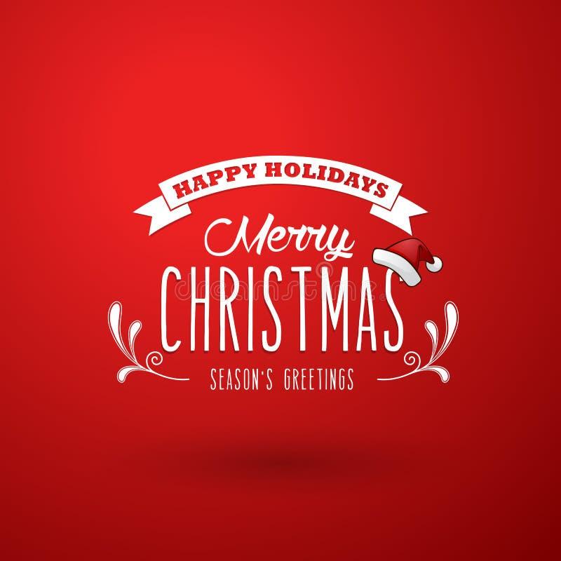 Красная предпосылка рождества с лентой бесплатная иллюстрация