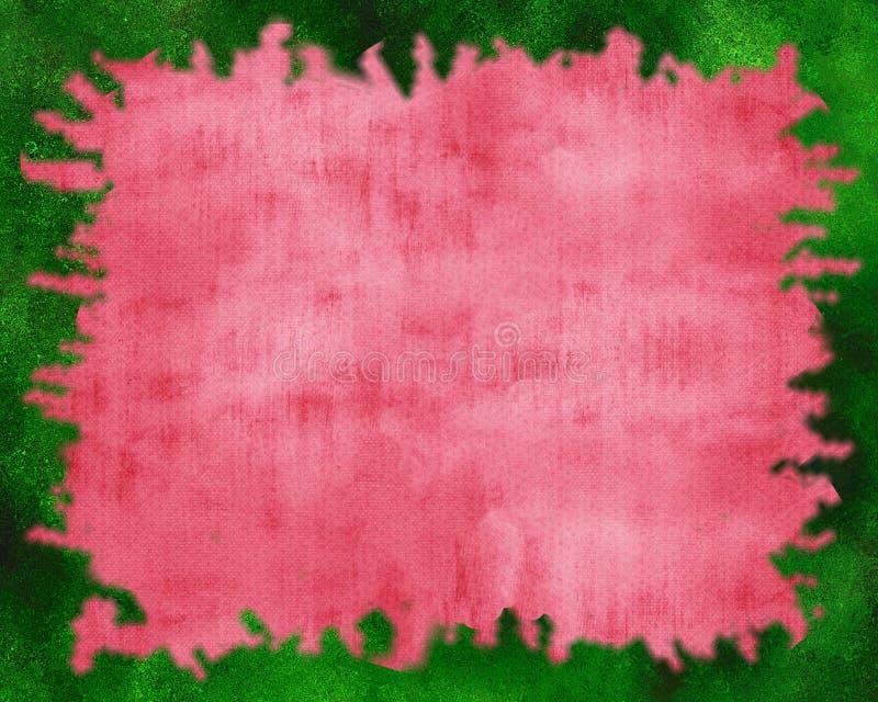 Красная предпосылка с зеленым краем искры стоковое изображение