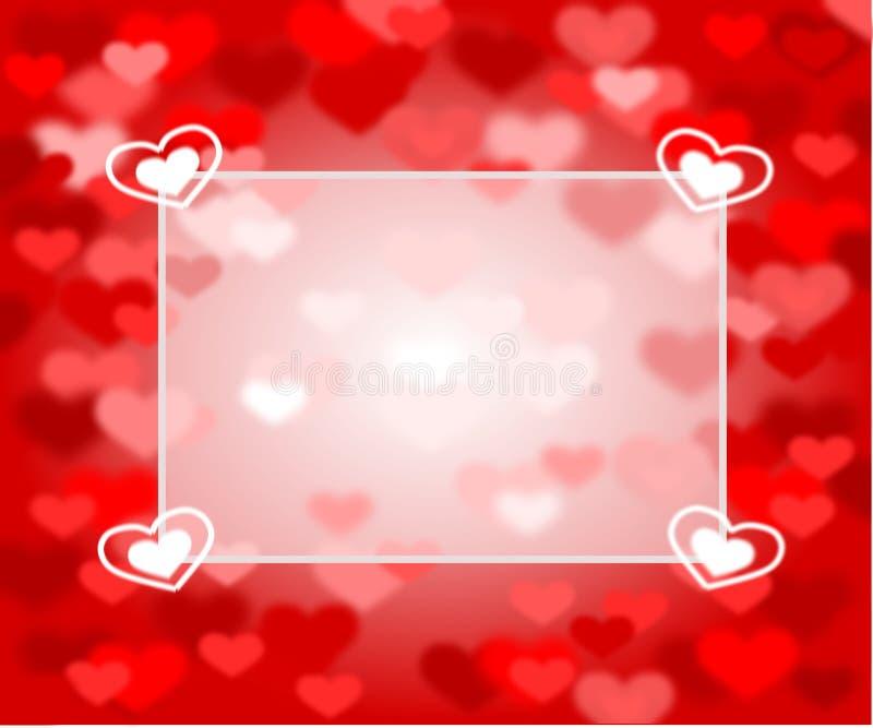 Красная предпосылка с розовыми и красными сердцами и текстовым полем стоковые фотографии rf