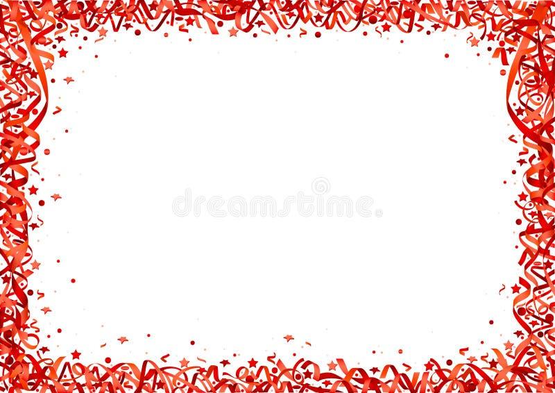 Красная предпосылка Confetti иллюстрация вектора