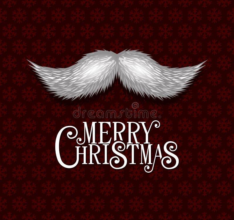 Красная предпосылка рождества с снежинками и бесплатная иллюстрация