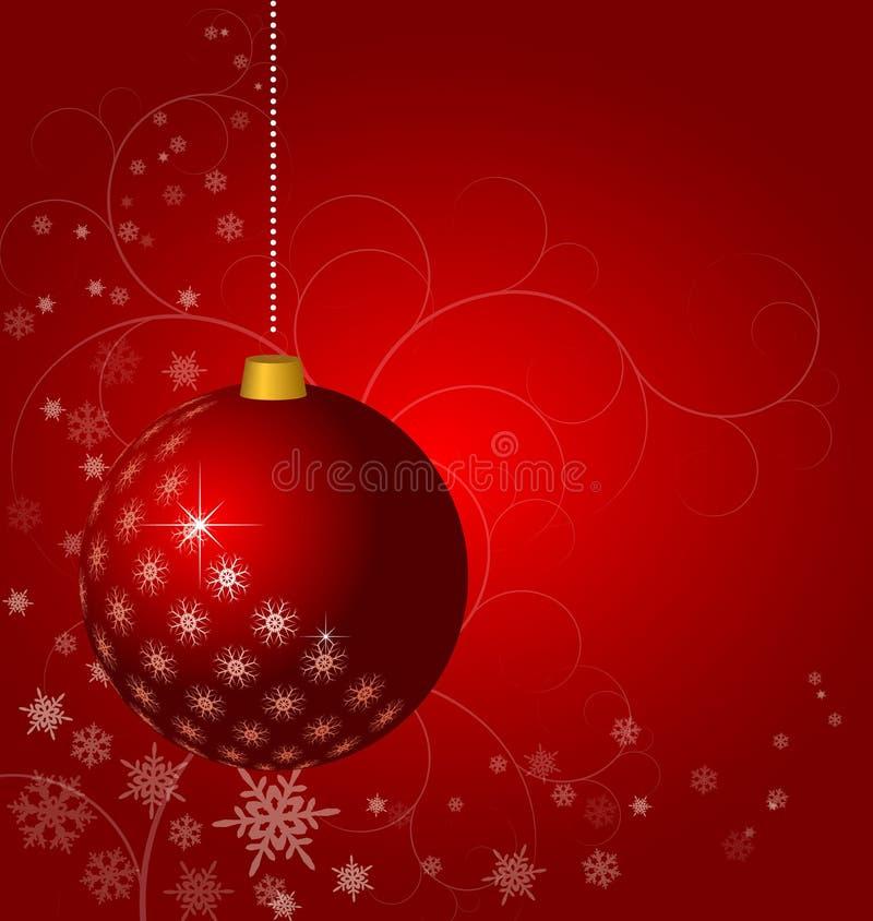 Красная предпосылка рождества иллюстрация штока