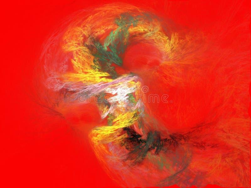Красная предпосылка с фракталями стоковая фотография rf