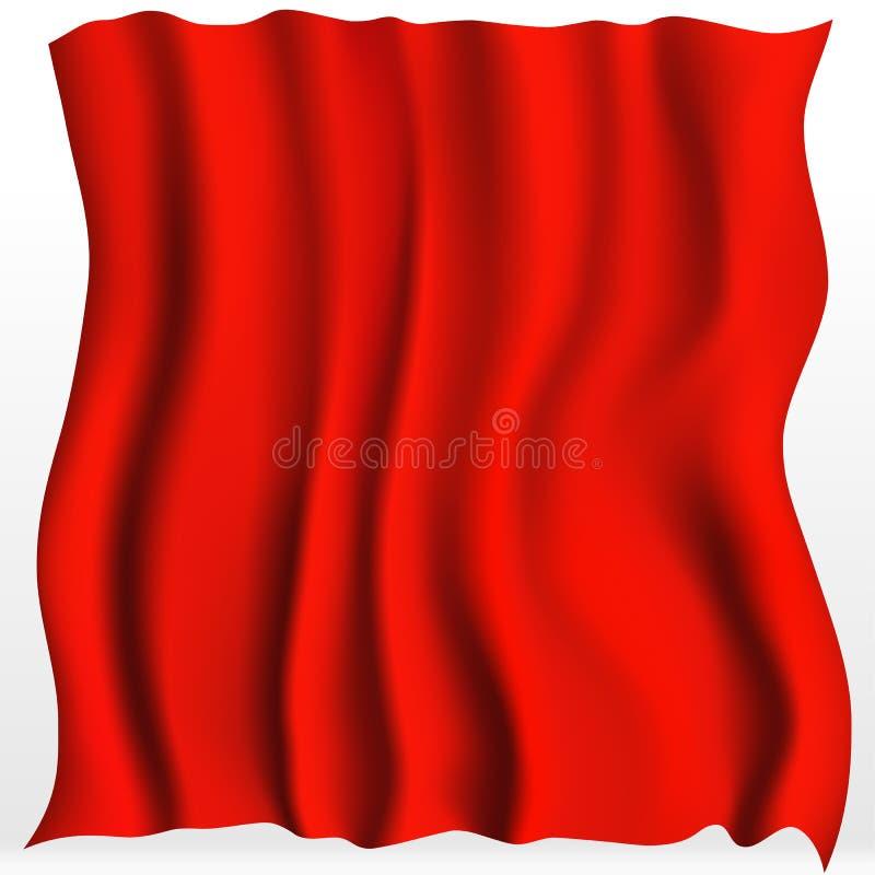 Красная предпосылка ткани иллюстрация вектора